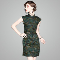 Thin Cotton Cheongsam vetement homme tops traditional chinese suit style clothing shirt tight and revealing dress