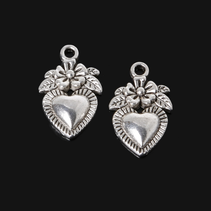 10 X Tibetan Silver PROTECTED 21mm x 8mm Charms Pendants