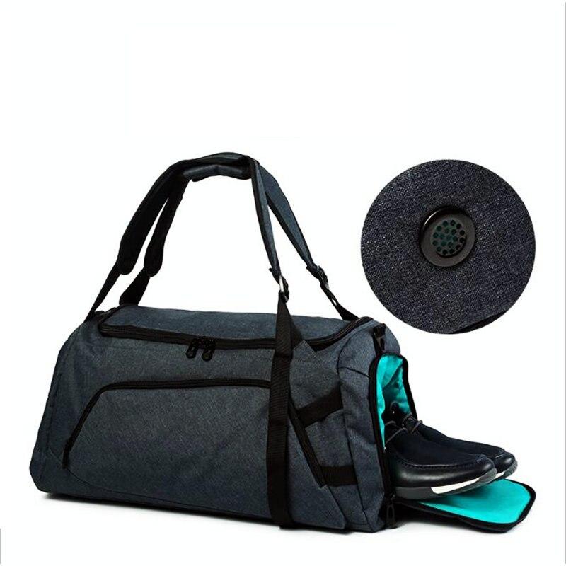 45L nuevo estilo hombres bolsas de gimnasio 2018 de gran capacidad bolsas de viaje impermeables Terylene Fitness bolsas de entrenamiento al aire libre mochila de equipaje