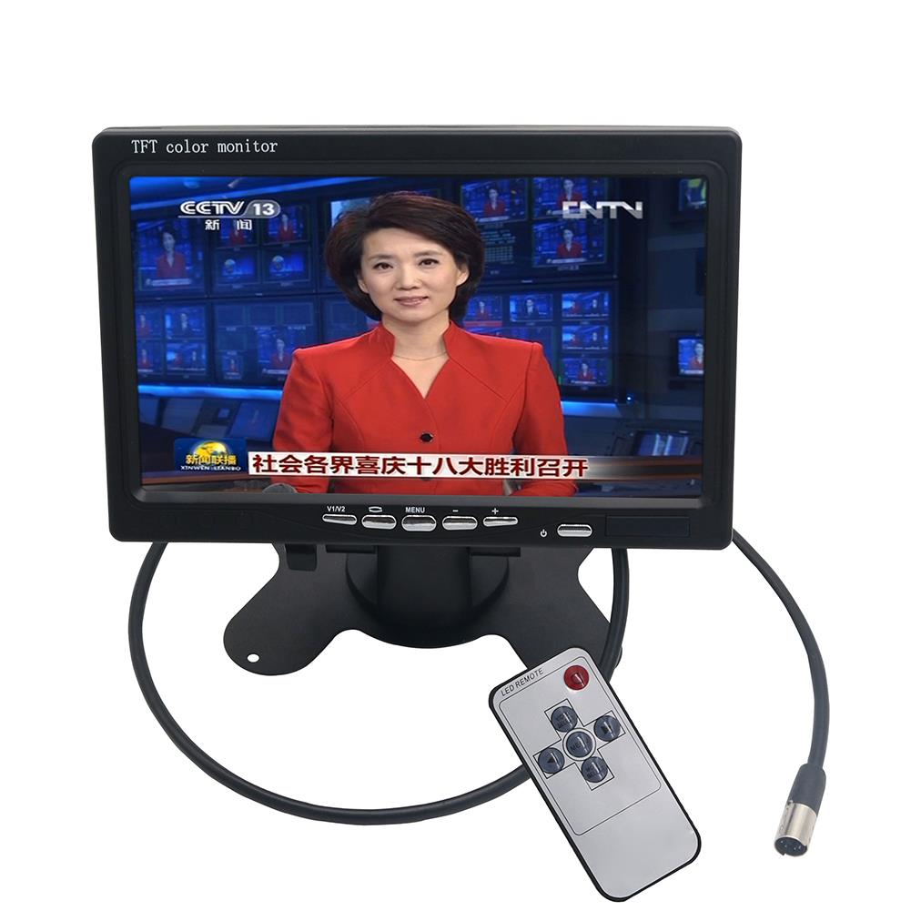 7 Inch 800*480 TFT LCD Color Display Screen DVD VCR Monitor+LED Lights Night Vision Rearview Reverse Reversing Camera