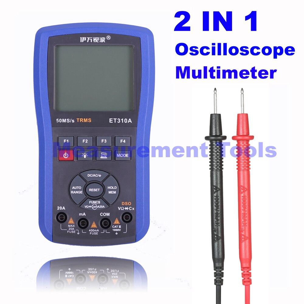 M131 ET310A 2 в 1 20 мГц 80msps цифровой Ручной осциллограф ScopeMeter + мультиметр лучше, чем ET201