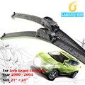 Водитель и Пассажир Ветрового Стеклоочиститель Лезвия Резиновые Мягкий Вкладыш Безрамное 2 Шт. Для Jeep Grand Cherokee 2000-2004