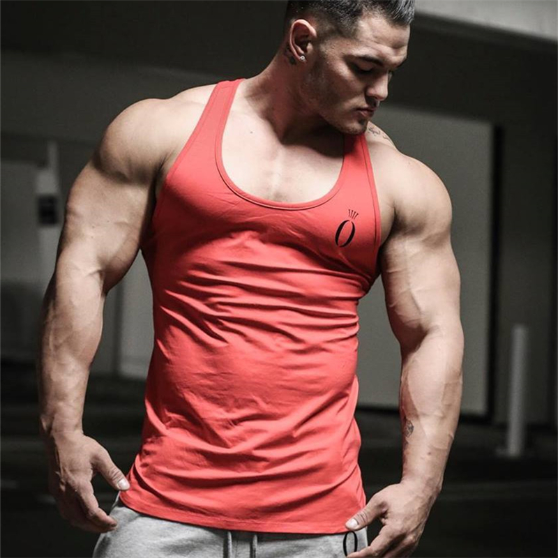 YEMEKE 2019 Gyms   Tank     Tops   Men Elastic Cotton Vest O-Neck fashion   Tank     Top   Men Sleeveless Shirts Muscle Men Fitness   Tops