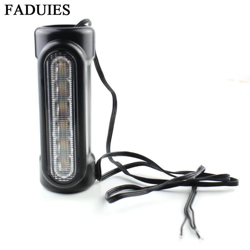 FADUIES Motorcycle Highway Crash Bar Light Switchback Driving Light 12 LED For Harley Touring Models (14)