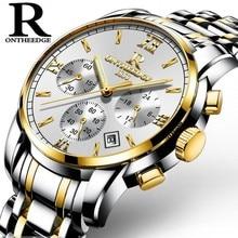 Mens Watch Top Luxury Brand Watches Chronograph Men Sports Watches Waterproof Full Solid Steel High Quality Men Quartz Watch цены онлайн