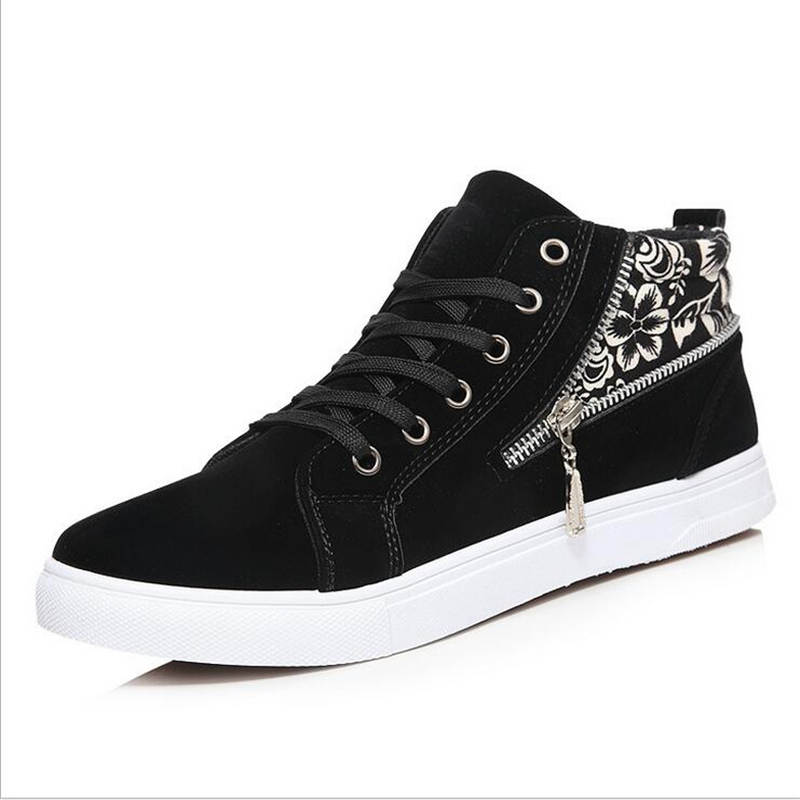 2016 New Spring/Autumn Men Casual Shoes High-top Lace-up flat Canvas Shoes Espadrilles Fashion Men Trainers Breathable tenis 2017 new summer breathable men casual shoes autumn fashion men trainers shoes men s lace up zapatillas deportivas 36 45