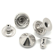 20 Sets Silver Tone Clothing Belt Bag Shoes Cone Spike Garment Studs Spots Pointed Rivets 9mm 8mm