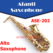 Afanti Music Eb tone / Brass body / Gold finish Alto Saxophone (ASE-202)