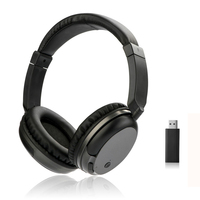New TV 2 4G Wireless Headset Rechargeable Multifunction Hi Fi Stereo Headphones Ecouteur For TV PC