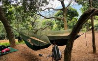 New Parachute Anti Mosquito Net Hammock Beach Tent Camping Sleeping Hammock Portable Outdoor Leisure Hanging Bed