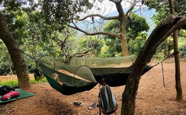 new Parachute Anti Mosquito Net Hammock Beach Tent C&ing Sleeping Hammock Portable Outdoor Leisure Hanging Bed & new Parachute Anti Mosquito Net Hammock Beach Tent Camping ...