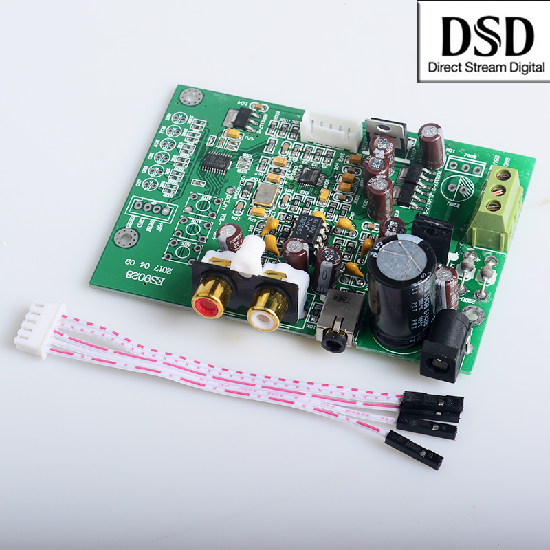 Dac Accessories & Parts Es9028q2m Dac Board For Hifi Amplifier Decoder Xlr Out I2s Input Supports I2s 32bit 192k Dsd64 128 256