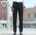 MWAMI High Quality 2015 Men 100% Wool Super Slim Gentleman Business Wedding Groom Winter Warm Suits Pants Casual Retro Long Pant
