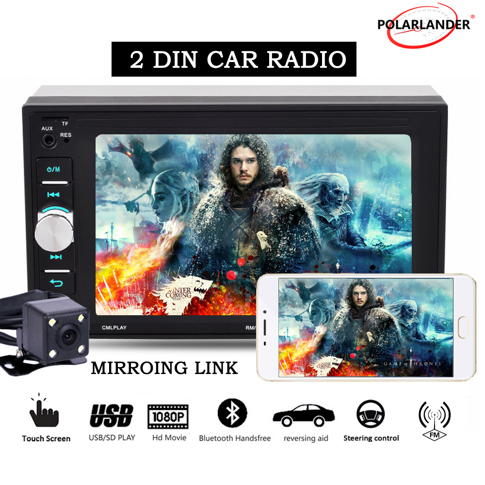 Mirrori link 9 languages 6 2 inch with rear font b camera b font touch screen