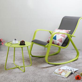 Moda proste domu przerwa na Lunch fotel rozrywka dla dorosłych fotel bujany rozrywka krzesło fotel fotel bujany tanie i dobre opinie Meble do salonu Szezlong Meble do domu Aluminium alloy Nowoczesne chińskie CHINA Metal AIBOULLY 60X91X87CM Assembly Economic type