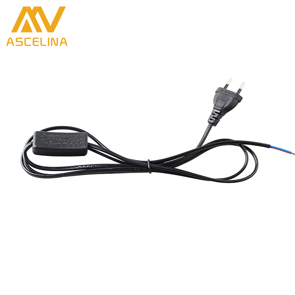 ascelina switch on line cable 3 pcs 1 8m on off power cord