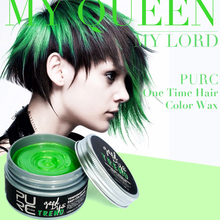 PURC Disposable Hair Color Wax Dye One-time Molding Paste  Green Hair Dye Unisex Fashion Wax Mud Cream 100ml