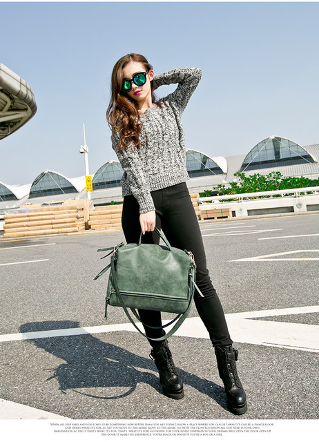 2017 New Arrive Women Shoulder Bag Nubuck Leather Vintage Messenger Bag Motorcycle Crossbody Bags Women Bag