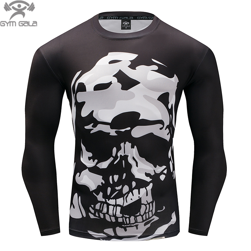 Men Crossfit Long Sleeve Compression Shirt 3D T Shirt Tights Fitness Men Tops & Tees