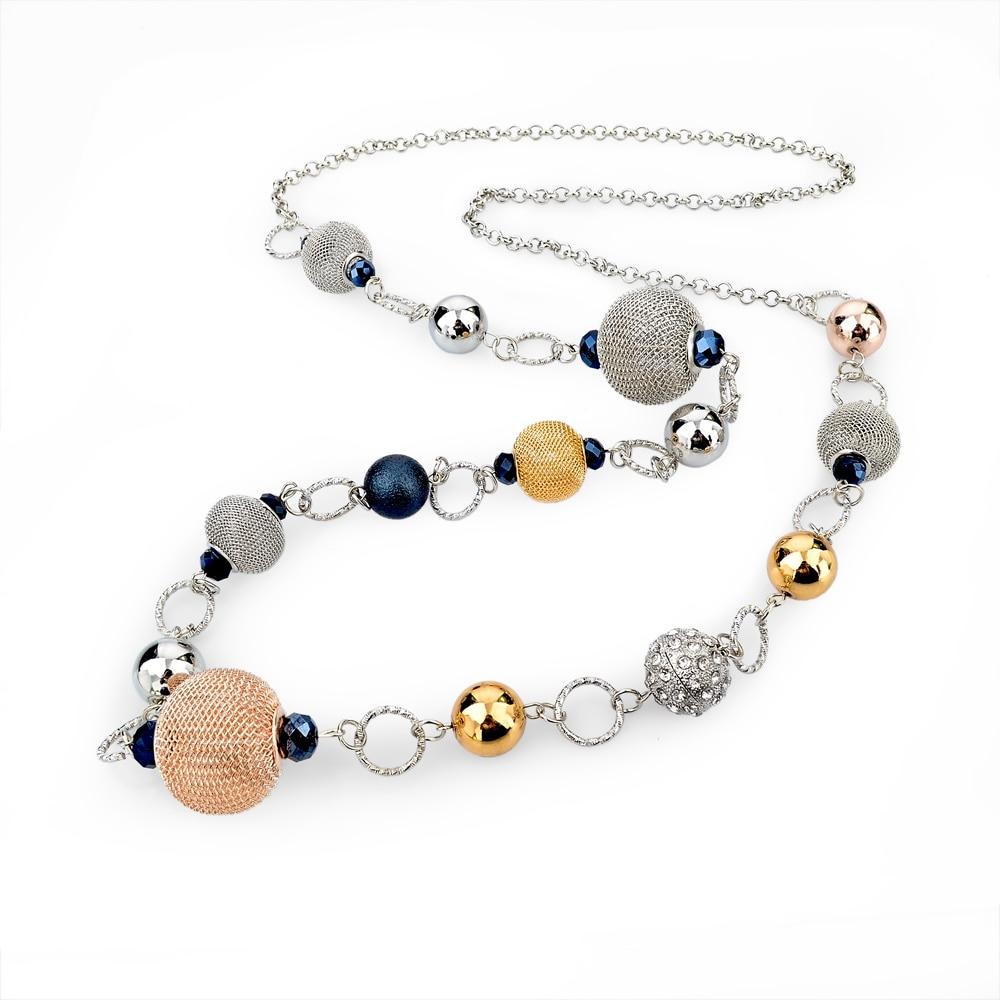 LongWay Vintage srebrna boja zlatna boja lančana ogrlica nakit - Modni nakit - Foto 3