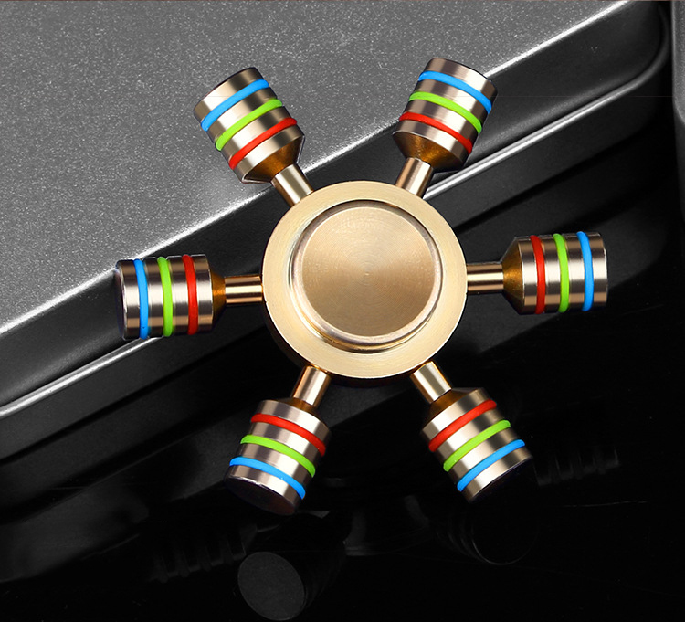 Rainbow Fidget Spinner Finger Spinner Hand Spinner Brass Spiner Metal For ADD ADHD Autism Kids Adult