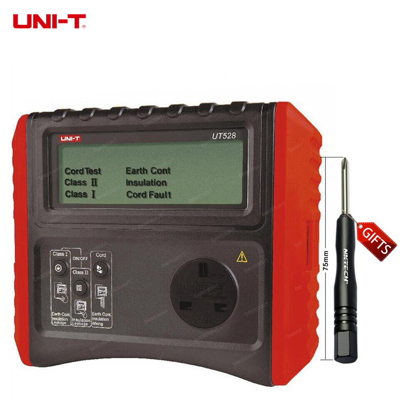 DHL free shipping UNI-T UT528 EARTH INSULATION Resistance TESTER METER Safety Specification Test Ohm Tester