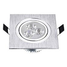 Светодиодный светильник квадратной формы, 3 Вт, 5 Вт, 7 Вт, утопленные светильники с регулируемой яркостью, 110 В, 220 В, точечный потолочный светильник для дома