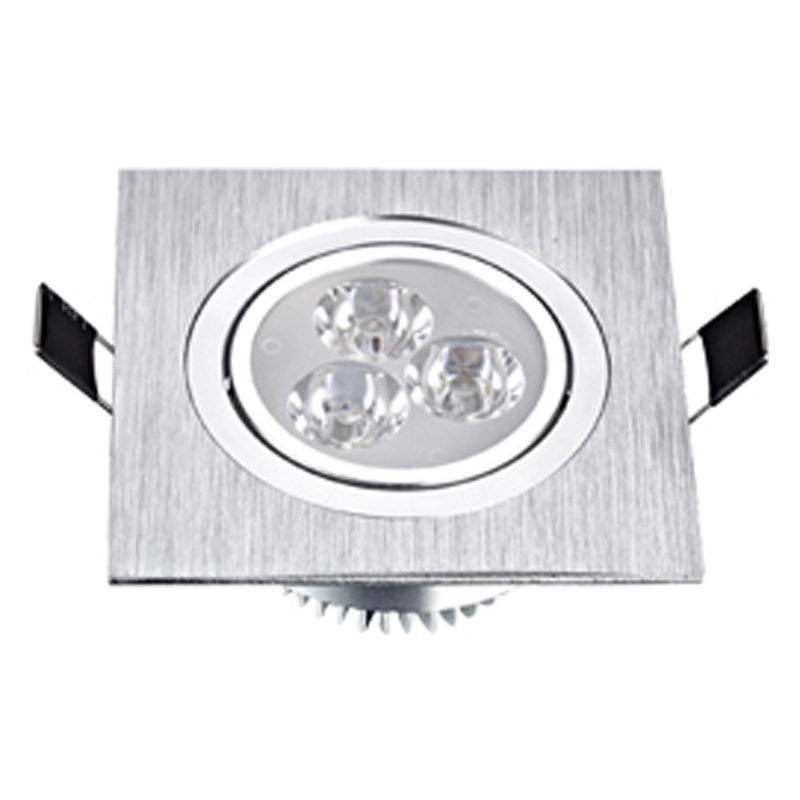 LED Square Down Lights 3W 5W 7W Recessed Dimmable Downlights 110V 220V Spot Indoor Ceiling Home Lighting image