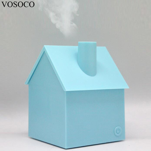 vosoco humidifier 200ml usb mini house style portable air humidifier essential oil aroma diffuser home office - Mini House Maker