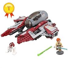High quality LEPIN 05020 Space star wars Obi-wan Jedi interceptor building block R2-D2 minifigures compatible with legoes 75135