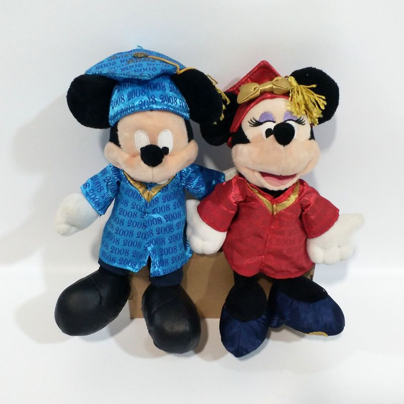 Collection Doctor Mickey Minnie Mouse Soft Cute Kawaii Stuff Plush Toy Baby Birthday Christmas Gift 25cm