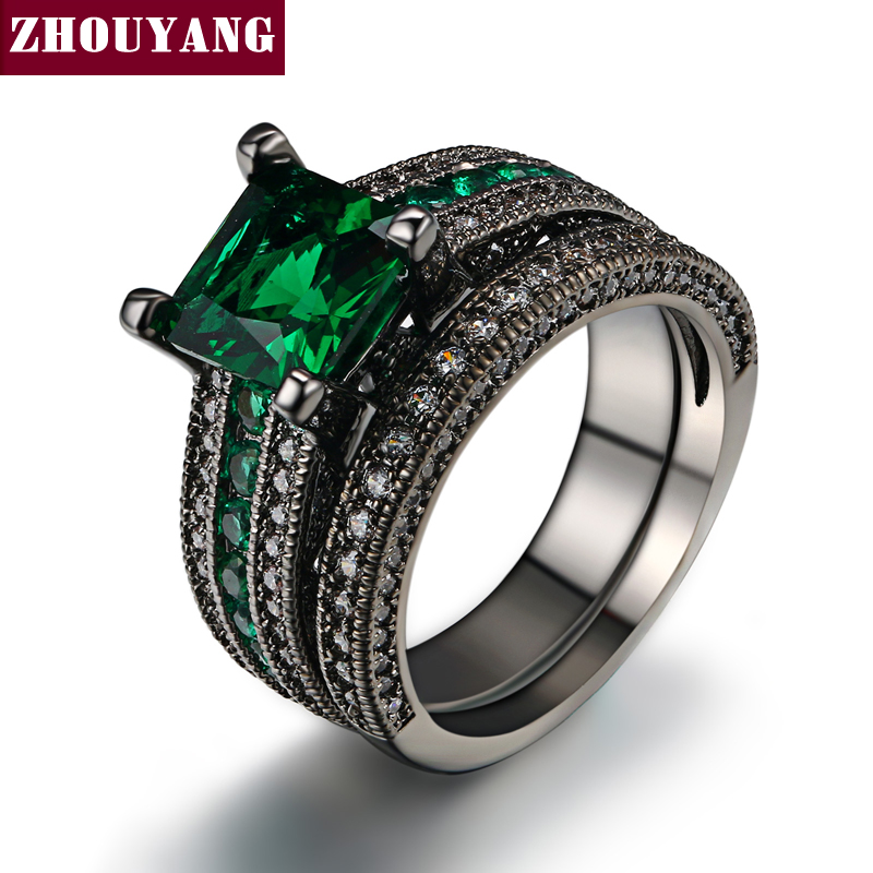 ZHOUYANG Top Quality 6mm CZ Created Diamond Created Emerald s