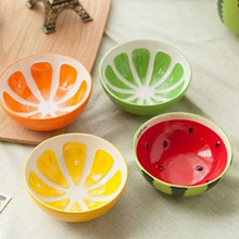 Lovely Fruit Style Creative Ceramic Hand Painted Rice Bowls Tableware 4 Colors Soup Salad Bowl Kitchen Tools Products For Home