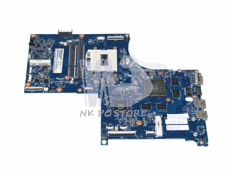 720267-501 Main Board For HP Envy QUAD TouchSmart 17 M7 17T Laptop Motherboard PGA947 DDR3L GeForce GT750M Discrete Graphics 720566 001 720566 501 main board for hp envy touchsmart 15 15 j 15 j053cl laptop motherboard hm87 ddr3l gt740m 2gb