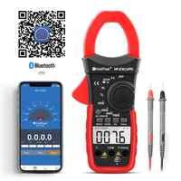 HoldPeak HP-570C-APP Digital Clamp Meter 4000 zählt 1000A AC Strom Spannung Kapazität Multimeter Verbinden zu Telefon Tester