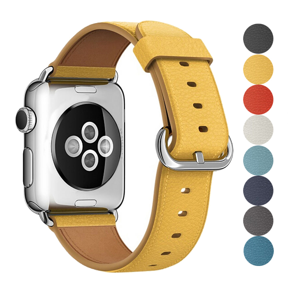 Leather Strap For Apple Watch Band 42mm 38mm iwatch 4/3 Bracelet 44mm 40mm bracelet Stainless Steel Classic Buckle WatchbandLeather Strap For Apple Watch Band 42mm 38mm iwatch 4/3 Bracelet 44mm 40mm bracelet Stainless Steel Classic Buckle Watchband