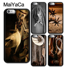 MaiYaCa Cowboy Cowgirl Laarzen Spur Hoed Phone Case Skin Shell Voor iPhone 6 6 s 7 8 Plus X XR XS MAX 5 5 s SE Zachte Mobiele Behuizing Cover(China)