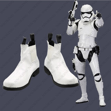 Star  7 Cosplay Shoes Anime War white soldier stormtrooper Boots