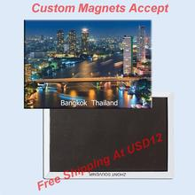 Rectangle Rigid Magnets Thailand Bangkok Metal Fridge Magnet 5452 Tourism Souvenir Hong Kong
