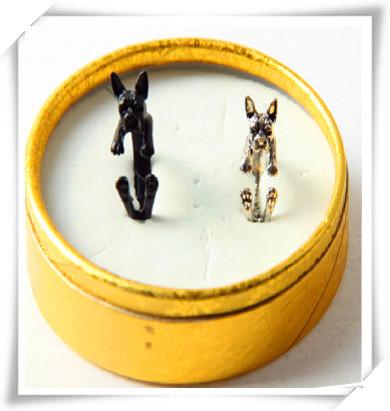 Кольцо в стиле ретро панк Америку Бостонский терьер кольцо подарок