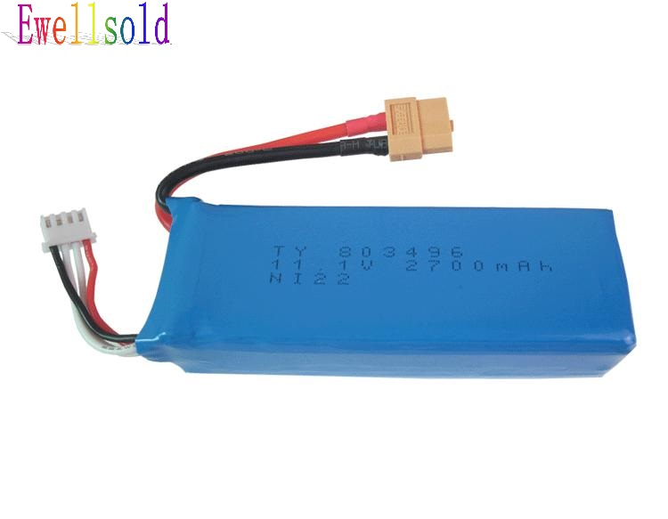 <font><b>wltoys</b></font> V303 <font><b>V393</b></font> RC Quadcopter WL913 RC boat cheerson CX20 RC drone spare parts 11.1V 2700mAh Li-ion battery Free shipping image