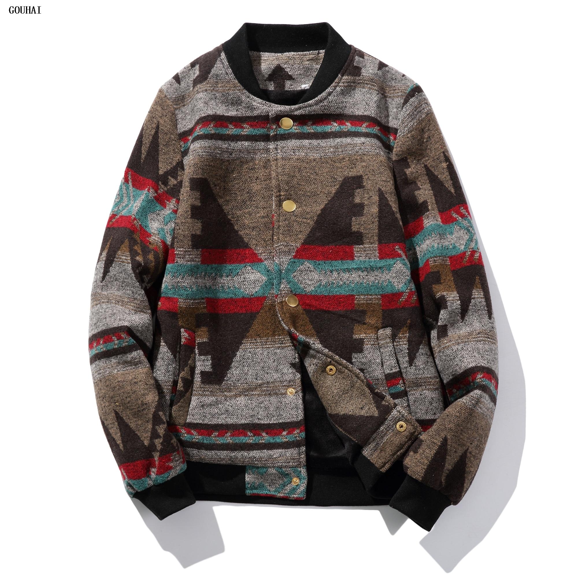 منفذها سترات الرجال 2018 الخريف الرجال سترة خليط طباعة الصوف الشتاء سترة الذكور سترة الرجال زائد حجم 5xl chaquetas hombre