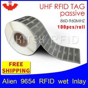 Image 1 - UHF étiquette RFID EPC 6C autocollant Alien 9654