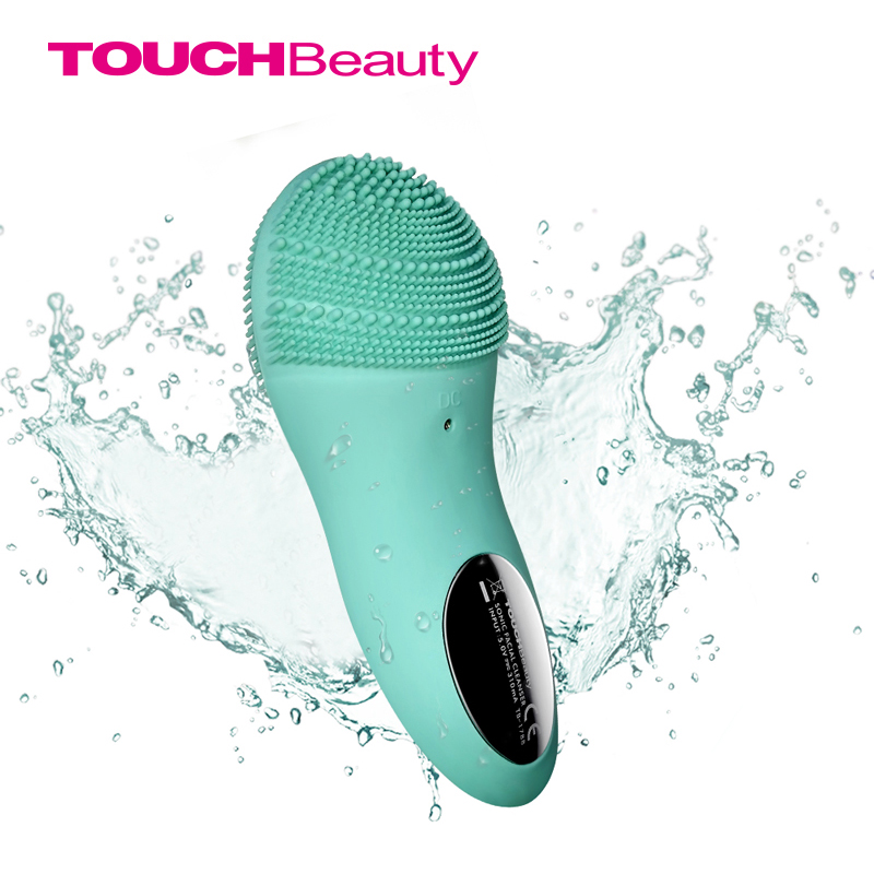 TOUCHBeauty Facial cleansing brush Sonic Vibration Face Cleaner Double-sided Silicone Deep Pore Cleaning Face Massager TB-1788 ultrasonic electric facial cleansing brush waterproof silicone face massager vibration skin remove blackhead pore cleanser