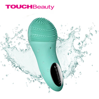 Touchbeauty cepillo de limpieza facial vibración sónica limpiador facial de silicona de doble cara limpieza profunda de los poros cara masajeador TB-1788