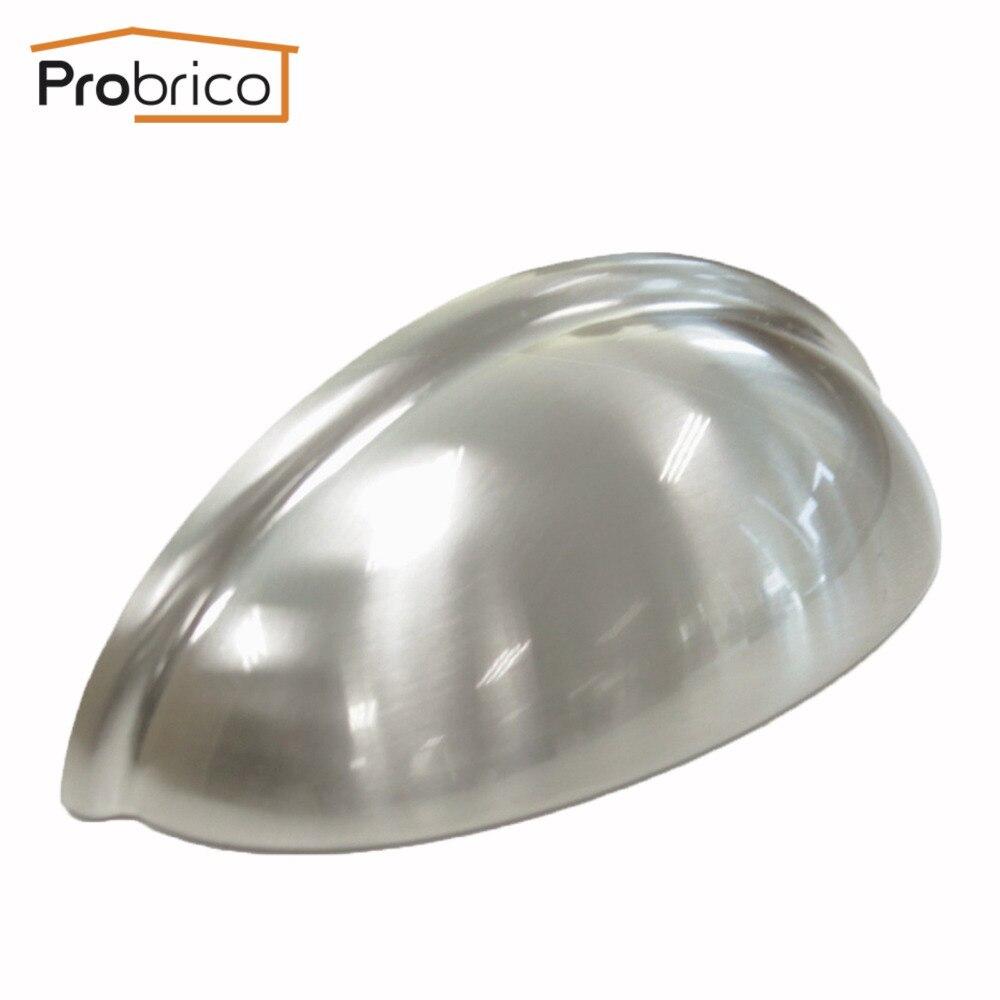 Probrico 20 pcs Shell Meubles Tiroir Bouton Longueur 93mm PD82981BSN Zinc Alliage Satin Nickel Cuisine Cabinet Poignée Armoire Tire