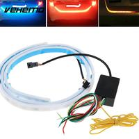 Vehemo DC12V Signal Lamp Rear Brake LED Light Strip Bar 3Colors 120CM Flow Type Super Bright