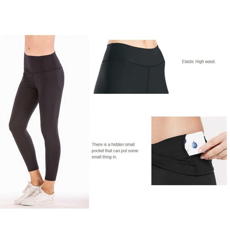 91d60c616ea89 ... Lulu Fitness Pants Women High Waist Seamless Gym Leggings Tights Capri  Running Sportswear Stretchy Push up ...
