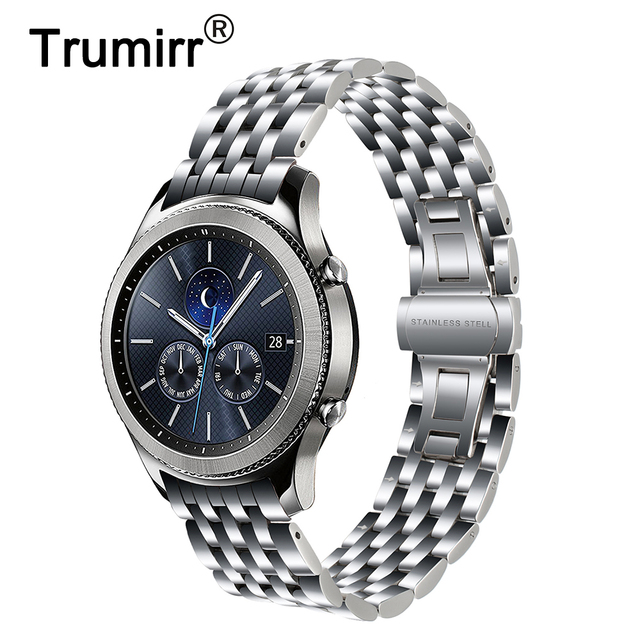 Arc End Stainless Steel Watchband for Samsung Gear S3 Classic Frontier R760 R770