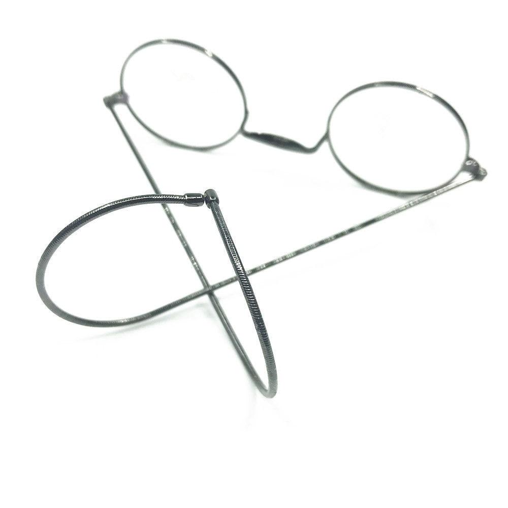 Винтажные круглые очки для чтения с полным ободом из металлической